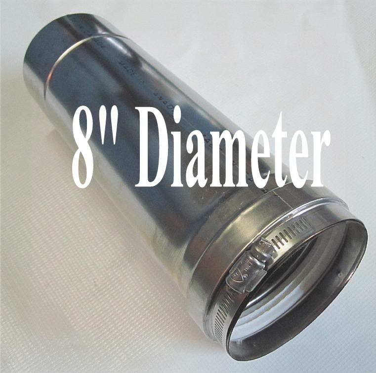 6 inch stainless steel pool heater venting