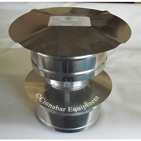 """12"""" Double Wall Stainless Steel Rain Cap"""