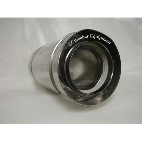 """7"""" x 24 in. Double Wall Stainless Steel Vent Pipe"""