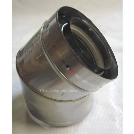 "5"" x 45 deg Double Wall Stainless Steel Elbow"