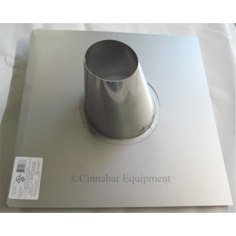 """12"""" 0/12 - 6/12 Stainless Steel Roof Flashing"""