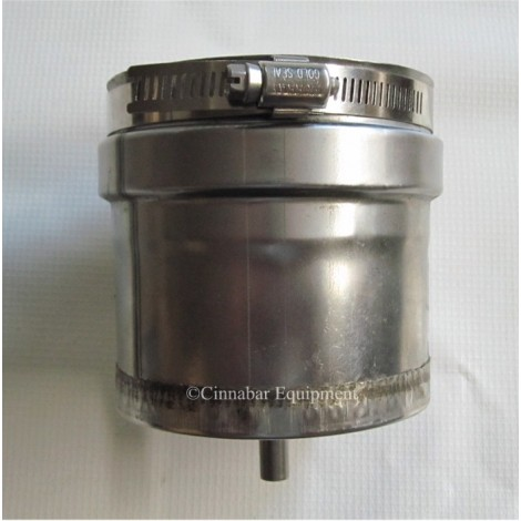 Z-Vent Tee Cap with Drain - 9 Inch Double Wall
