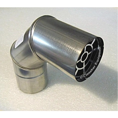 4 in. X Stainless Steel Termination Elbow with Birdscreen