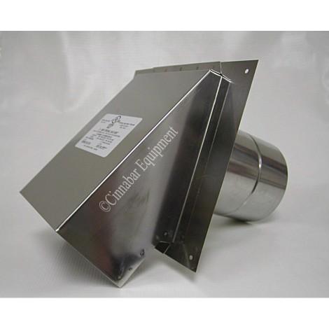 3 in. Stainless Steel Termination Hood With Backflow Damper