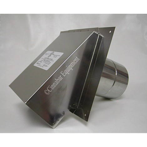 4 in. Stainless Steel Termination Hood With Backflow Damper