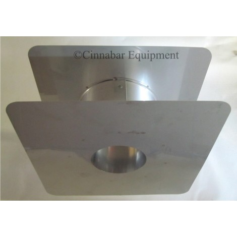 3 in. Stainless Steel Wall Thimble 5-10 in.