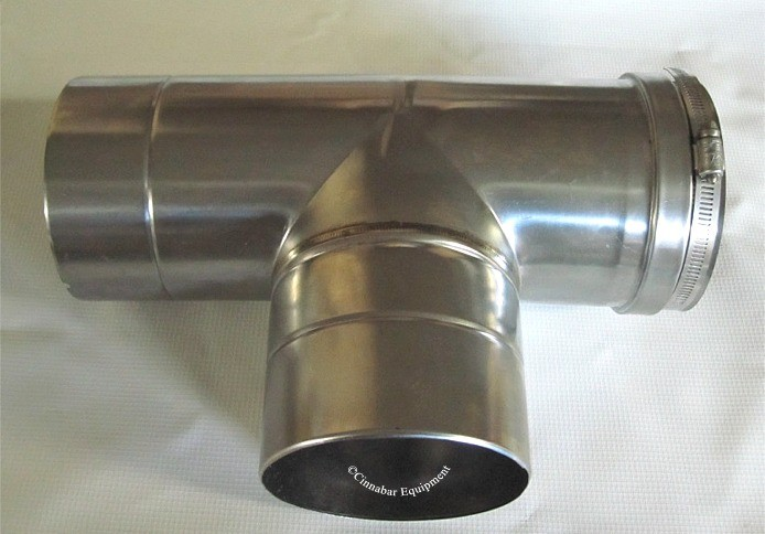 Z Vent 5 Inch Tee 5 Quot Single Wall Stainless Single Wall