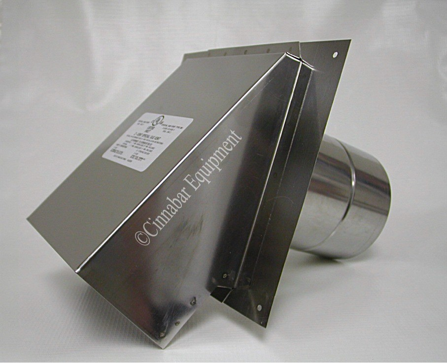 5 Quot Stainless Steel Termination Hood With Birdscreen 5