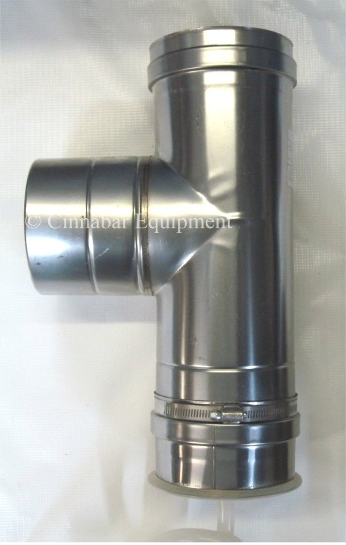 18 Quot Vertical Drain Tee 18 Quot Single Wall Stainless