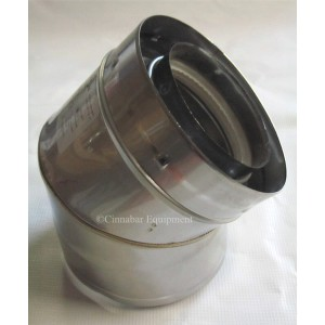 "7"" x 45 deg Double Wall Stainless Steel Elbow"