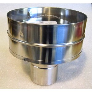 3 In. Stainless Steel  Extreme Rain Cap