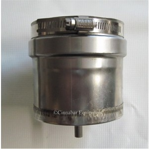 Z-Vent Tee Cap with Drain - 8 Inch