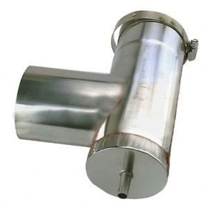 4 in. Stainless Steel Vertical Drain Tee
